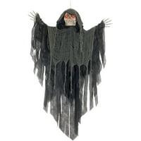 Loftus Light Up Sound Moving Hanging Reaper 3feet Animated Prop, Grey