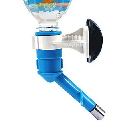 Yosoo Pet Cat Puppy Dog Drinking Kit Hanging Water Dispenser Fountain Bottle Head(Blue)