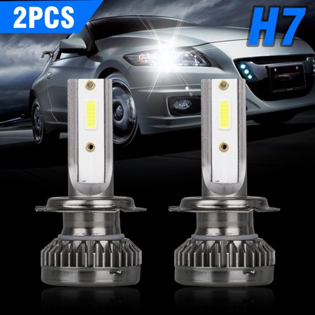 2pcs H7 LED Headlight Bulb,EEEkit CAR Light 40W 8000Lumens Extremely Bright 6000K CSP Chips Conversion