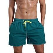 Swim Shorts Swim Trunks Mens Bathing Suits Elastic Waist Drawstring Shorts Pants Swimwear Beachwear Underwear Board Shorts