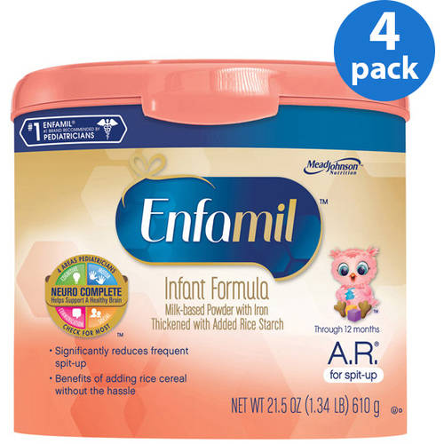 Enfamil A.R. baby formula ��� 21.5 oz Powder in Reusable Tub, Pack of 4
