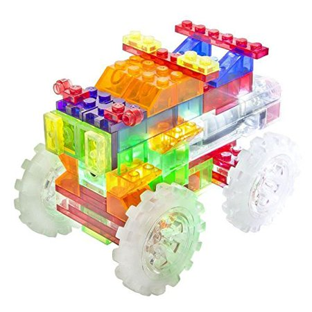 6 in 1 Laser Pegs Construction Monster Truck, Power base, 3/4 dia. x 3-1/2H By The Lakeside Collection From USA