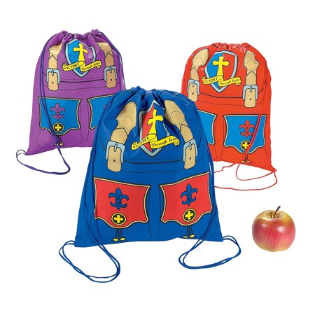 Fun Express - Kingdom Vbs Drawstring Backpack - Apparel Accessories - Totes - Novelty Backpacks - 12 Pieces](Kingdom Rock Vbs)