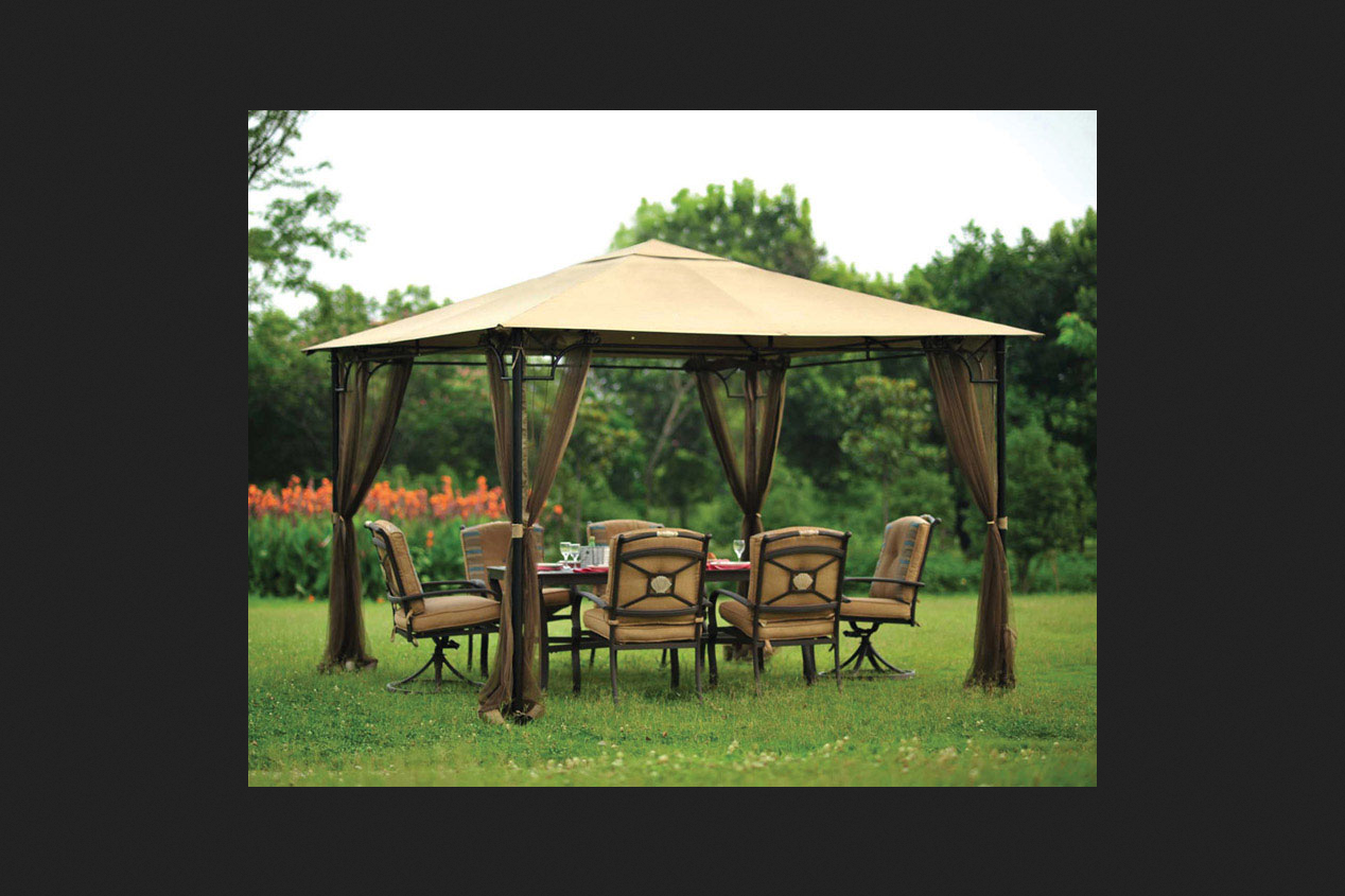 Living Accents Brown Mosquito Netting Fits 10u0027X10u0027 Gazebo - Netting ...  sc 1 st  Walmart & Living Accents Brown Mosquito Netting Fits 10u0027X10u0027 Gazebo ...