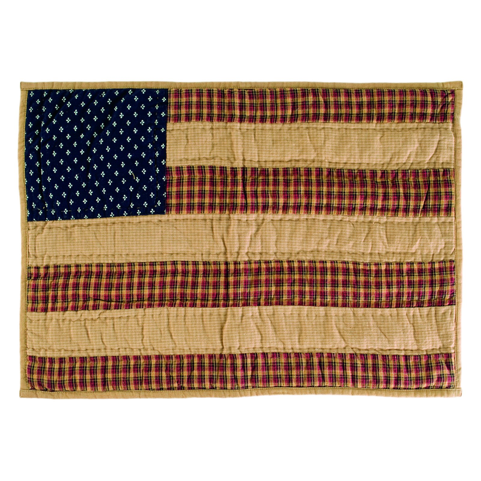 VHC Brands Patriotic Patch Quilted Placemat Set of 6 by VHC Brands