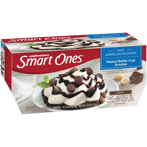 Weight Watchers Smart Ones Peanut Butter Cup Sundae, 2.04 oz, 4 ct