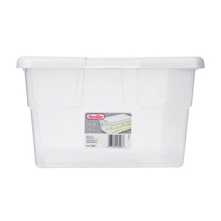 Sterilite 16448012 16 Quart Clear Stacking Storage Container Tub, 12 Pack - image 1 de 6