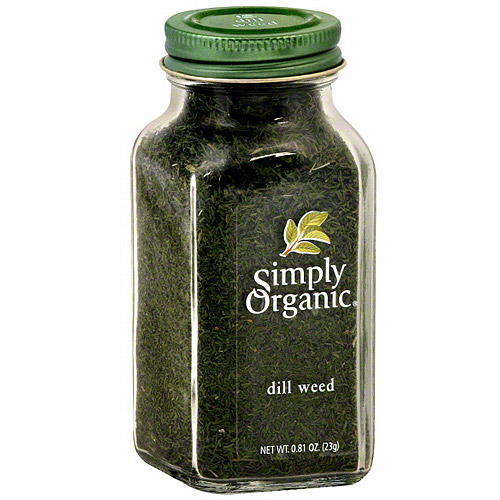 Simply Organic Dill Weed, 0.81 oz (Pack of 6)