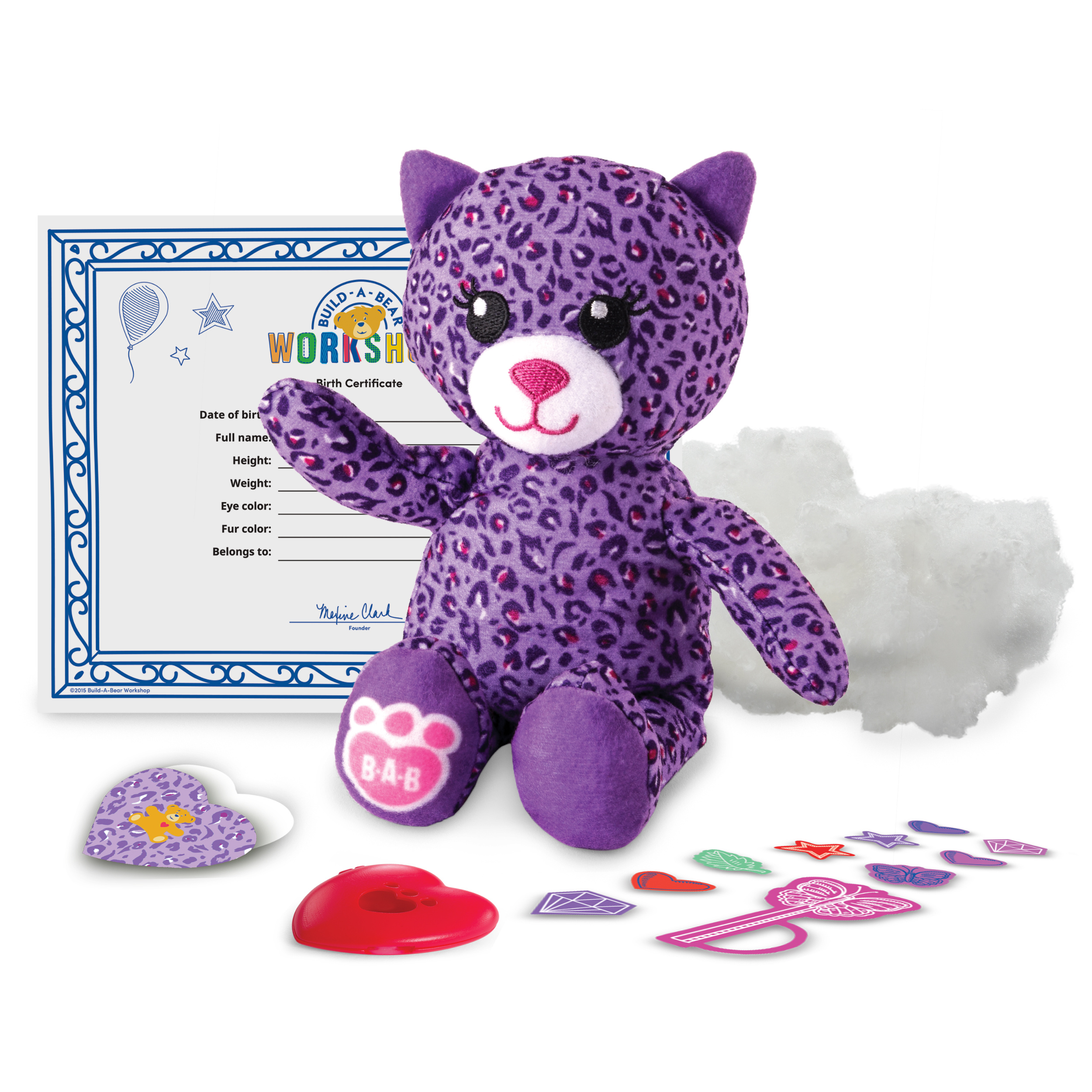 Build45a45bear Workshop 45 Furry Friends 45 Purple Kitty