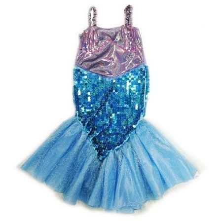 Wenchoice Girls Purple Blue Sequin Halloween Mermaid Dress](Royal Baby Halloween)