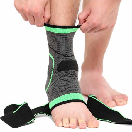 1pc Nylon Spandex Sock with Arch Support, Eases Swelling, Achilles tendon & Ankle Brace Sleeve with Compression Effective Joint Pain Foot Pain Relief from Heel