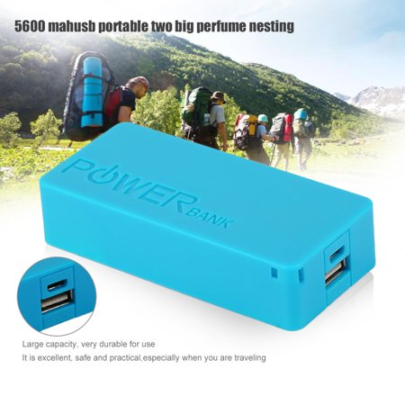 USB Charging Portable External Backup Battery Charger 2*18650 Case - image 5 of 6