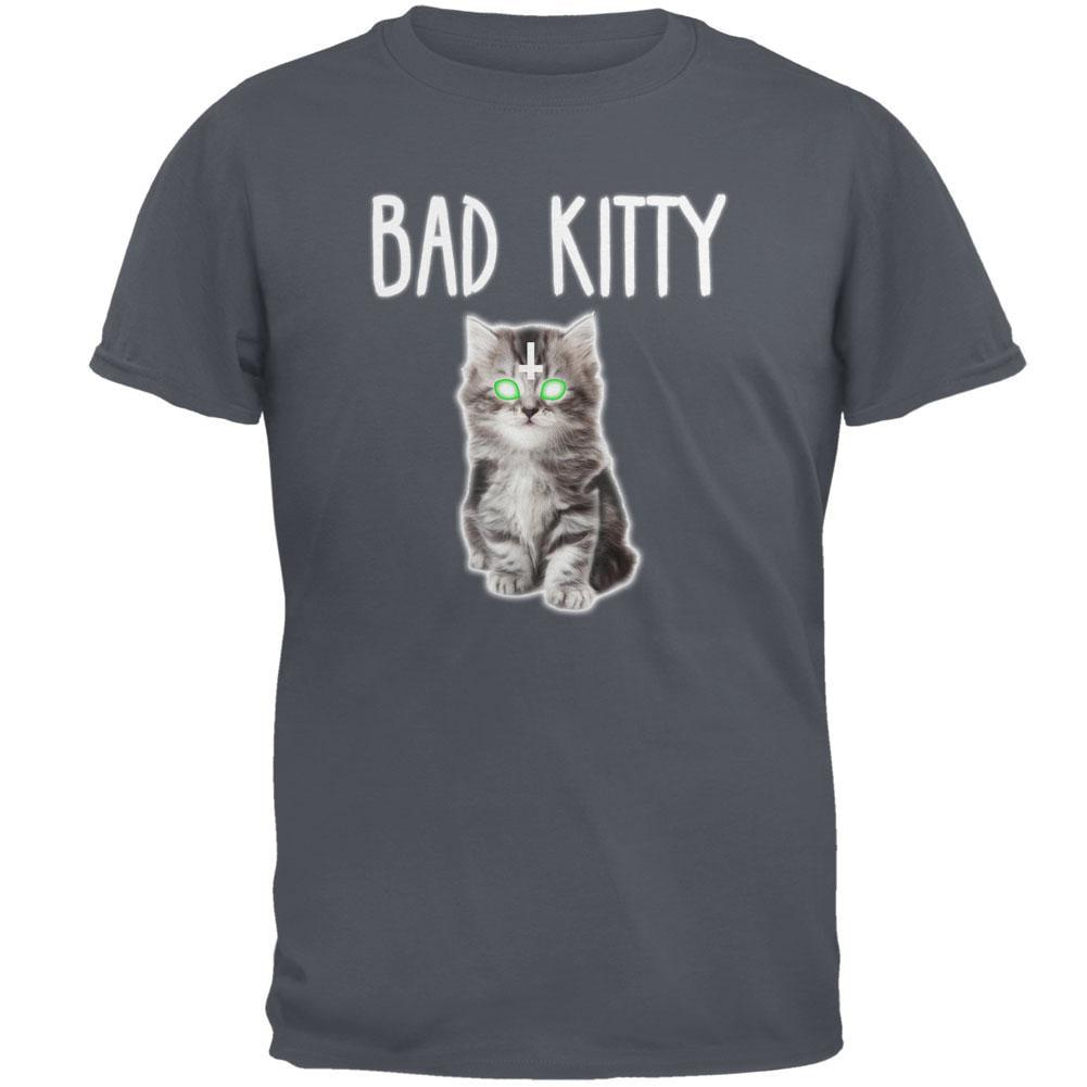 Halloween Bad Kitty Cat Mens T Shirt