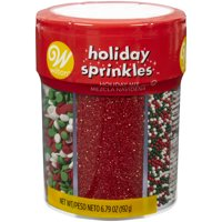 Wilton Red, Green and White Holiday 6-Cell Sprinkles Mix, 6.79 oz.