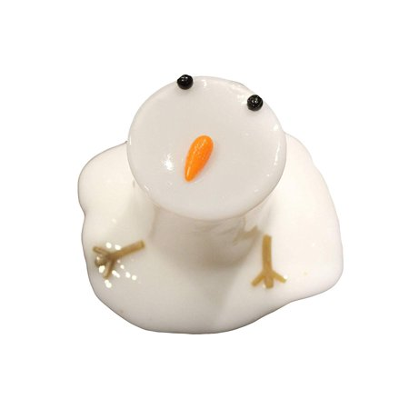 Melting Snowman Slime - White Slime with Snow Man Parts - Eyes, Stick Arms and Carrot Nose - Christmas Party Favor - Pin The Nose On The Snowman