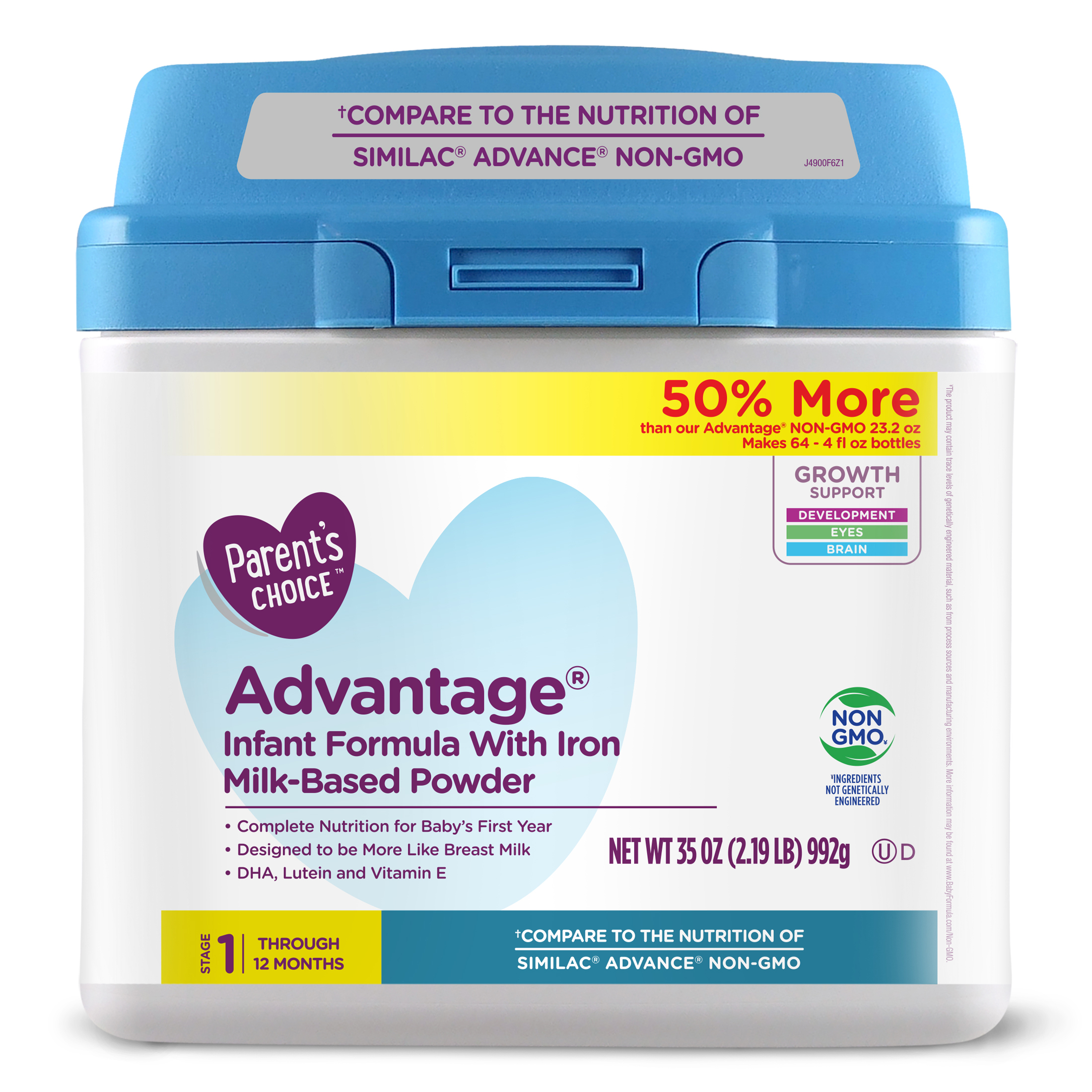 Parent's Choice Advantage Infant Formula, 35 oz