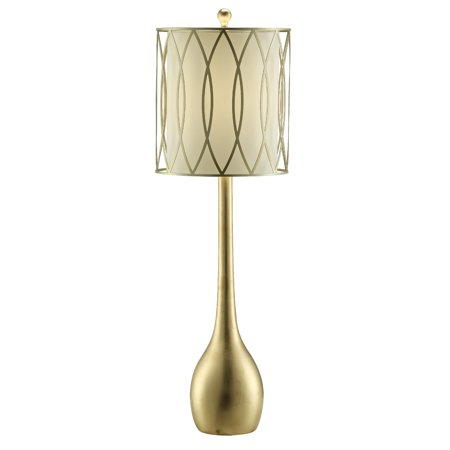 Crestview Carrington Table Lamp With Gold Leaf Finish CVAVP774 Gold Leaf Finish Set