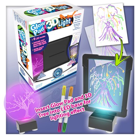 Mindscope light up led diy do it yourself glow pad 3d light black mindscope light up led diy do it yourself glow pad 3d light black glow solutioingenieria Images