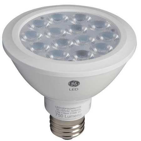 - GE LIGHTING LED12DP30RW83040 LED Lamp, PAR30, 12W, 3000K, 40deg., E26