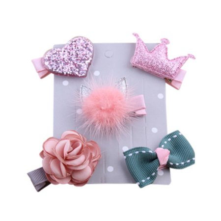 Ribbon Hair Bows Clips Hairpin Hair Accessories for Baby Girls Kids Teens Toddlers - Teens Accessories