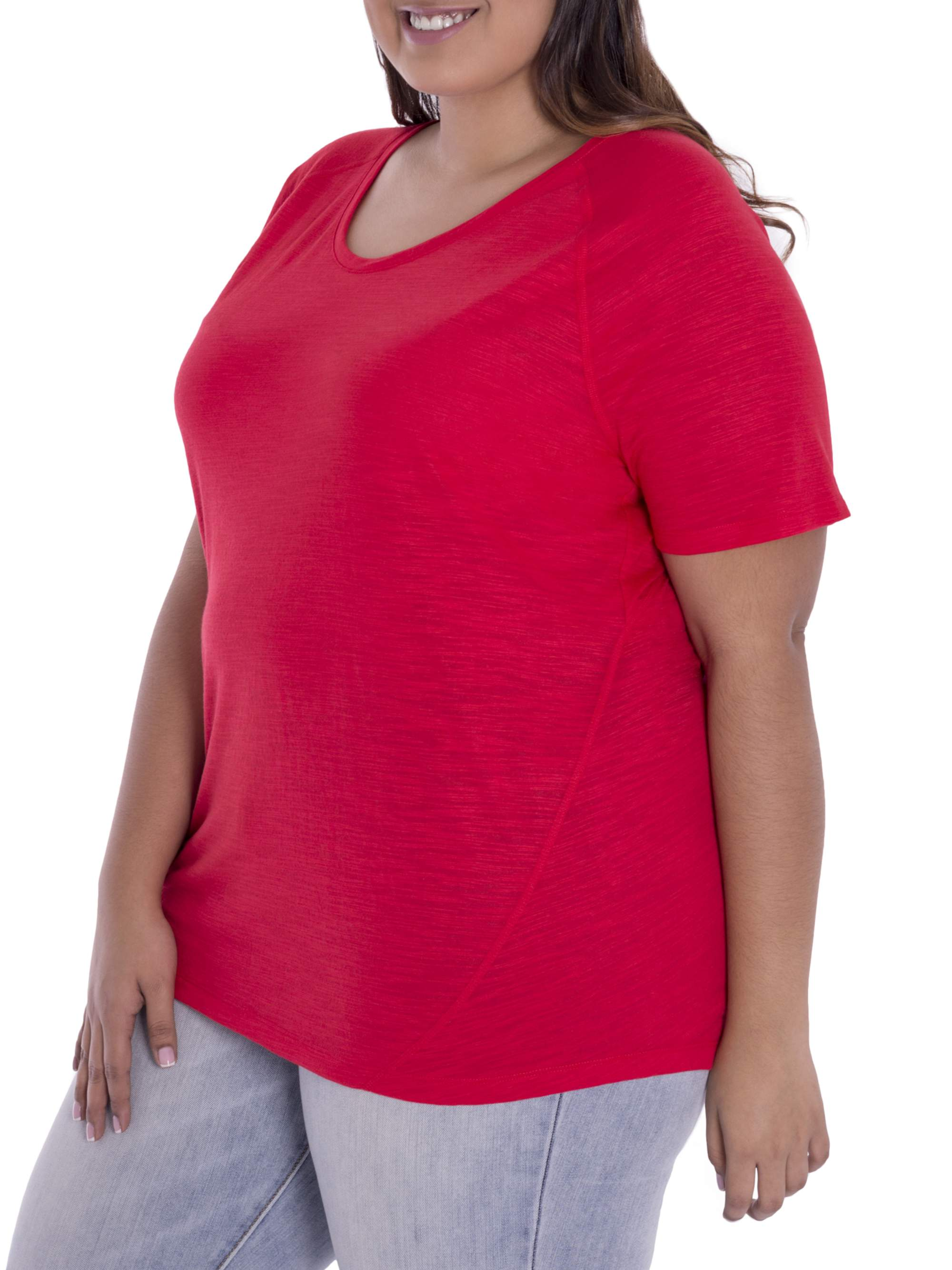 Terra & Sky Women's Plus Size Casual Short Sleeve Tee