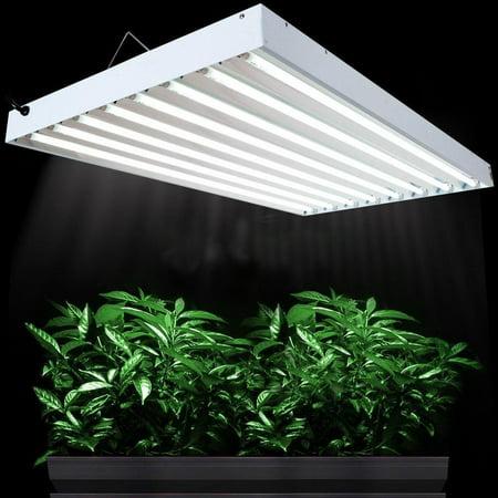 "Ktaxon T5 4 Ft 48"" 8 Bulb Fluorescent System Lamps 6500K Grow light for Plant Growing"