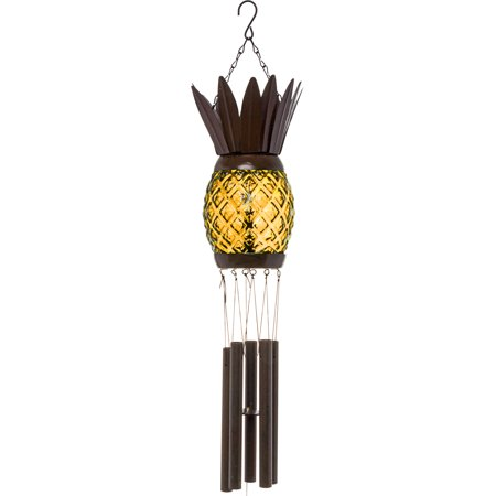 GreenLighting Solar Pineapple Wind Chime Light Decorative Windbell Lamp