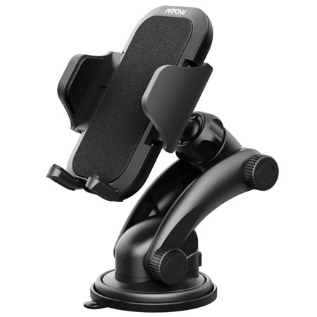 Mpow Car Mount Holder, Universal Dashboard Car Phone Mount Holder /w One-Touch Design&Washable Strong Sticky Gel Pad for iPhone X/8/8Plus7/7P/6s/6P/5S, Galaxy, Google, LG, Huawei and etc