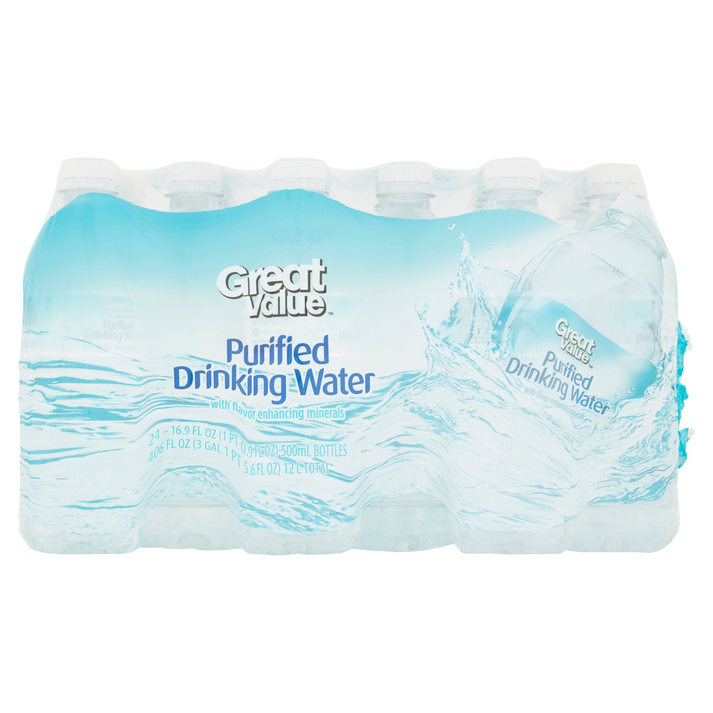 Great Value Purified Drinking Water, 16 9 Fl  Oz , 24 Count