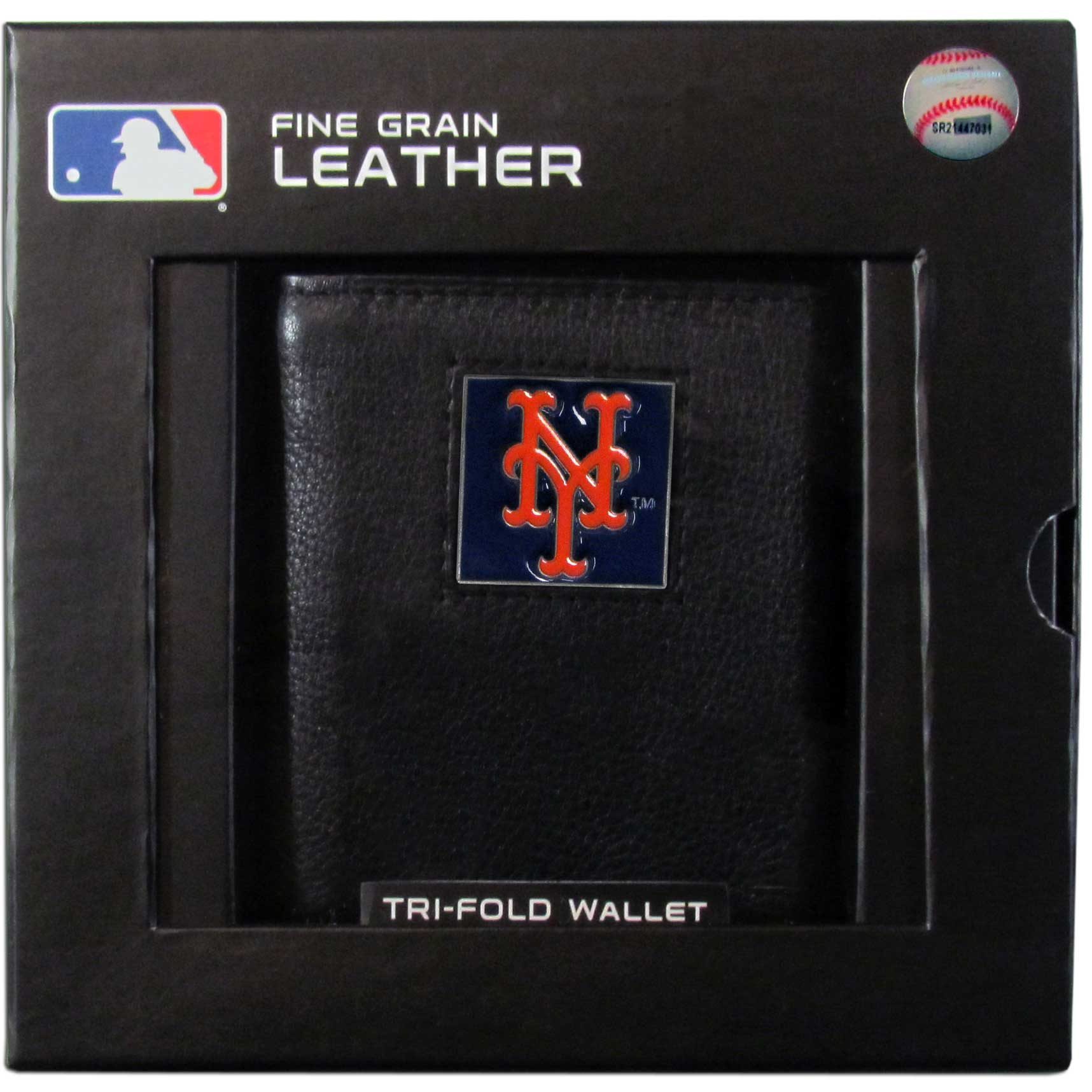New York Mets Official MLB  Leather Trifold Wallet by Siskiyou