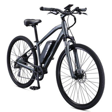0de62c07ade Schwinn Sycamore 350 Watt Hub-Drive 8-Speed Mountain/Hybrid Electric Bicycle,  Medium - Walmart.com