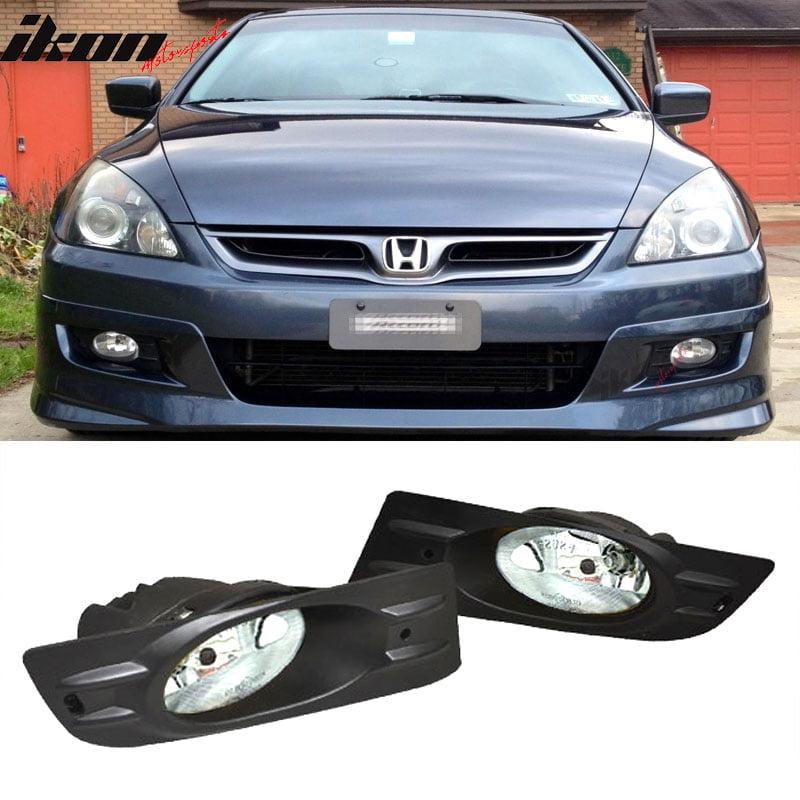 Fits 06-07 Honda Accord 2Dr Coupe Clear Lens Fog Lights JDM