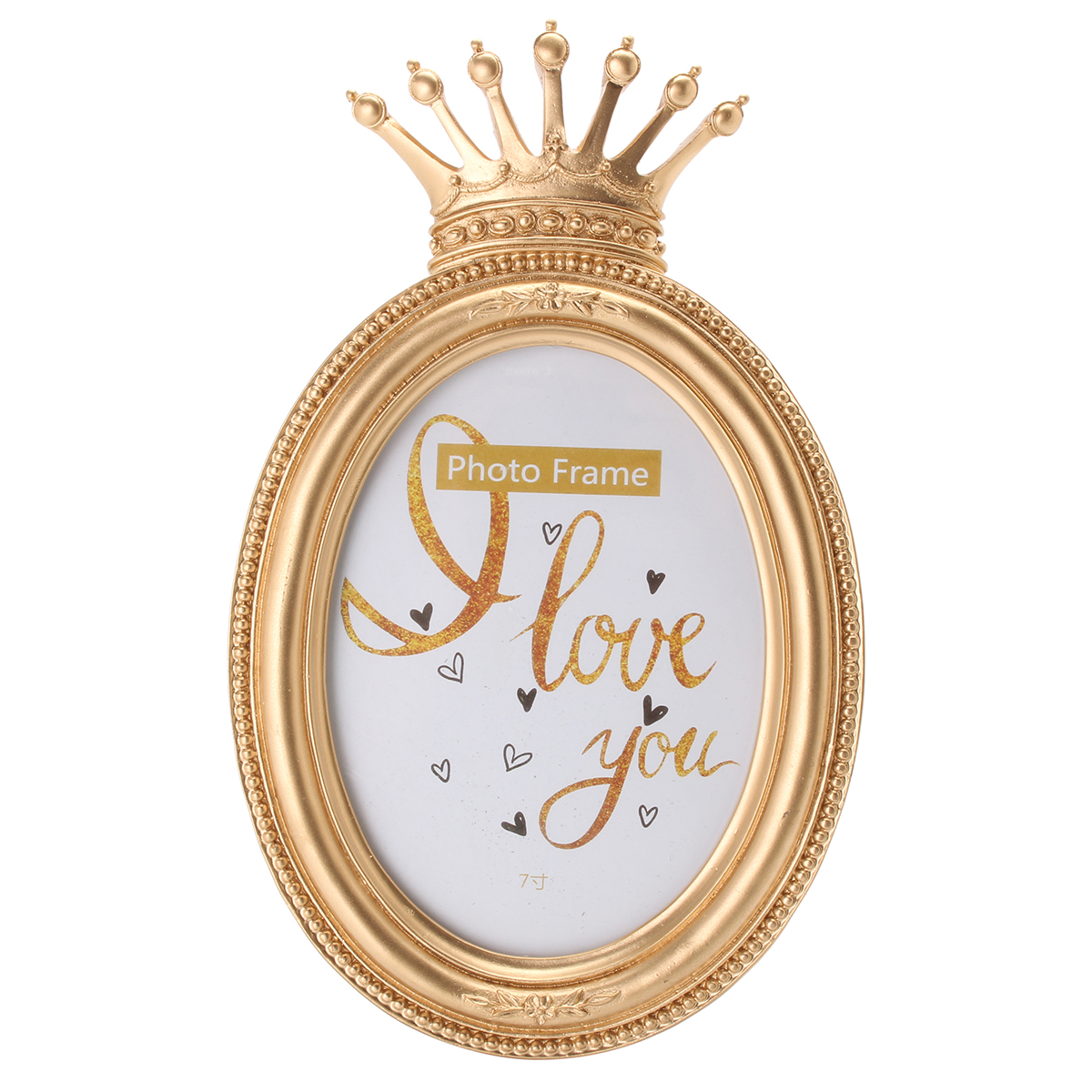 Gold Crown Home Decor Picture Photo Frame Baroque Luxury Style Gifts