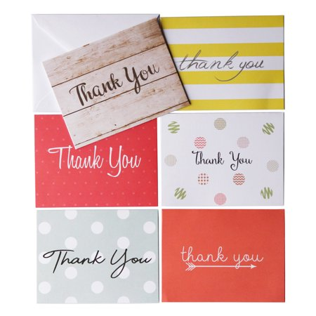 Oaklyn (48 pack) Thank You Cards Set with Envelopes - Employee Thank You Gifts
