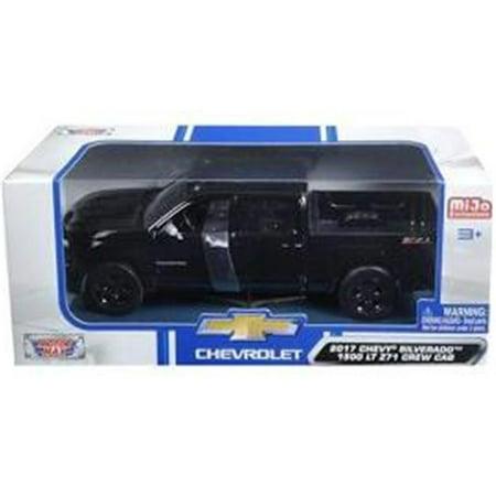2017 Chevrolet Silverado 1500 LT Z71 Crew Cab Black 1/24 Diecast Model Car by