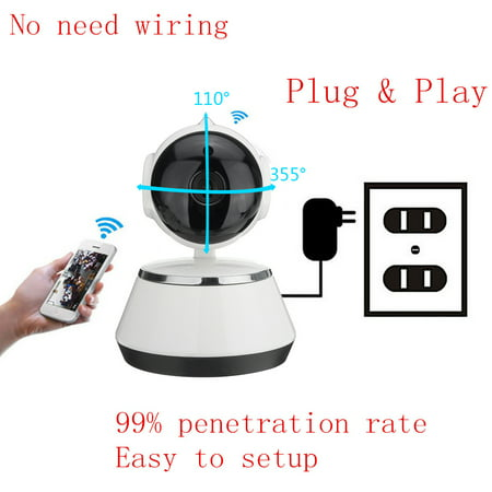 720P HD Security Cameras Home Video Security Camera System Day Night View Cameras CCTV IP Surveillance Kit Wireless Pan Tilt WIFI  - image 16 of 17