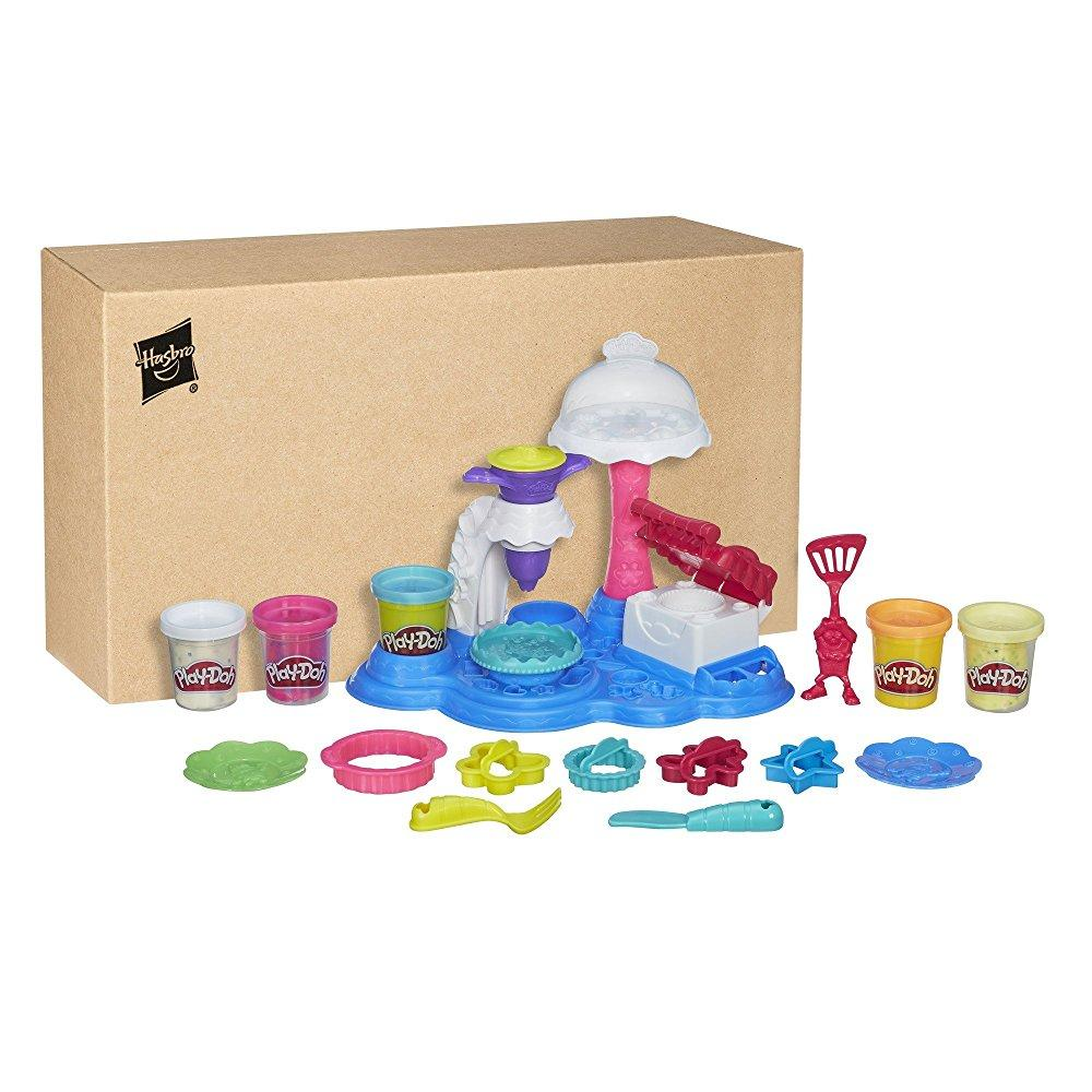 Play Doh Kitchen Creations Cake Party Food Set With 5 Cans Of Dough