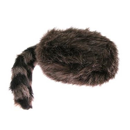 US Toy Faux Fur Classic Raccoon Tail Hat, The raccoon tail hat measures 17 in. long from front to tip of tail By U.S. - Raccoon Skin Hat