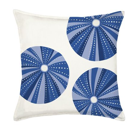 Greendale Home Fashions Sea Urchin Repeat Cotton Canvas Throw Pillow