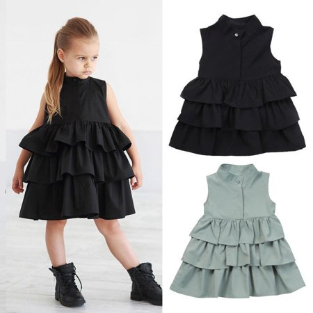 Sleeveless Kids Baby Girls Party Pageant Princess Ball Wedding Dress