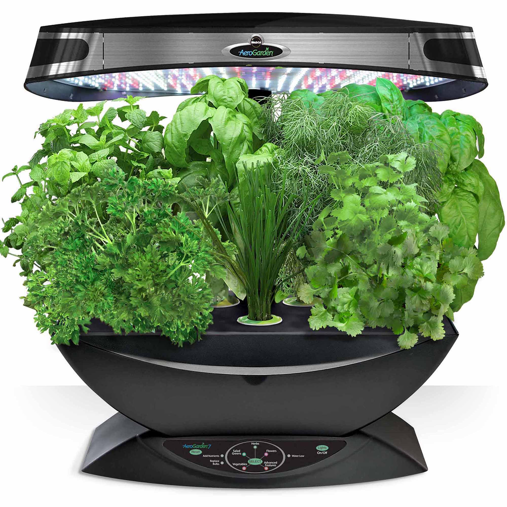 Miracle-Gro AeroGarden 7 LED with Gourmet Herb Seed Pod Kit