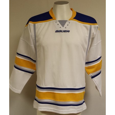 Bauer 800 Uncrested NHL Hockey Jersey, Youth-Large (Buffalo Sabres-White) Bauer Hockey Youth Decal