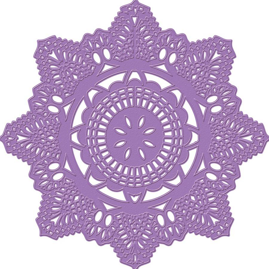 Prima Marketing Purple Metal Die, Crochet Doily