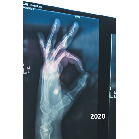 2020 : Xray of hand Elegant Planner Calendar Organizer Daily Weekly Monthly Student for research notes on radiology residency programs