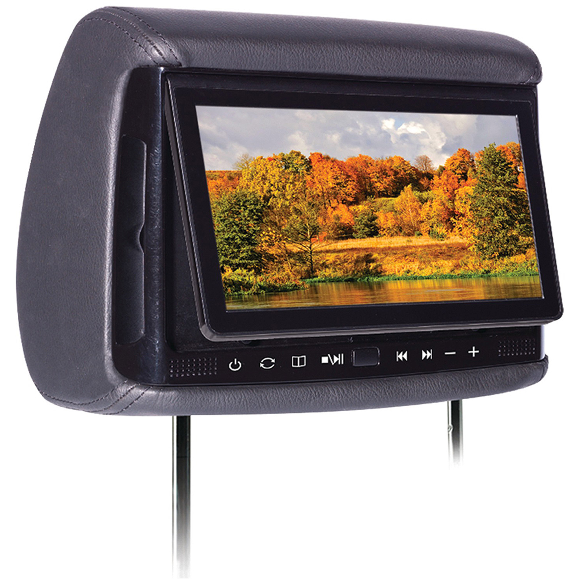 "Concept BSD-905M 9"" Chameleon Big Screen LCD Headrest Monitor with Wireless Screencasting and 3 Color Covers"