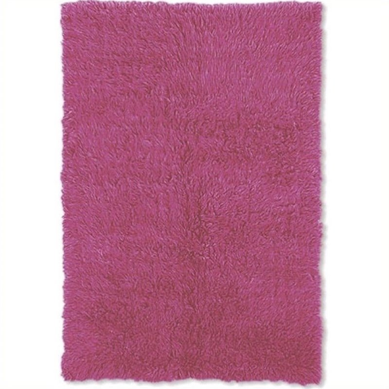 "Hawthorne Collection 2'4"" x 4'8"" Hand Woven Area Rug in Fuchsia"