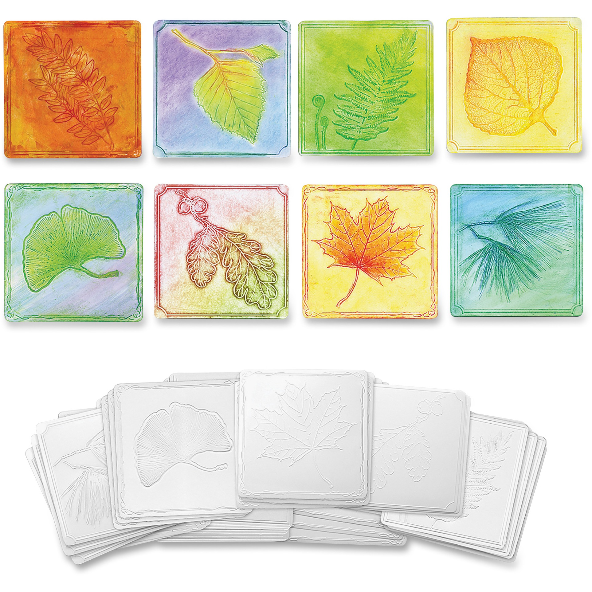 Creativity Street Leaf-embossed Paper Set, White, 24 / Set (Quantity)