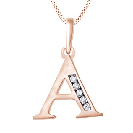 02 ct natural diamond alphabet letter pendant necklace in 14k solid this button opens a dialog that displays additional images for this product with the option to zoom in or out aloadofball Gallery