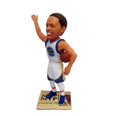 Stephen Curry (Golden State Warriors - Real Polyester Jersey) 2015 NBA MVP Newspaper Base Exclusive 10
