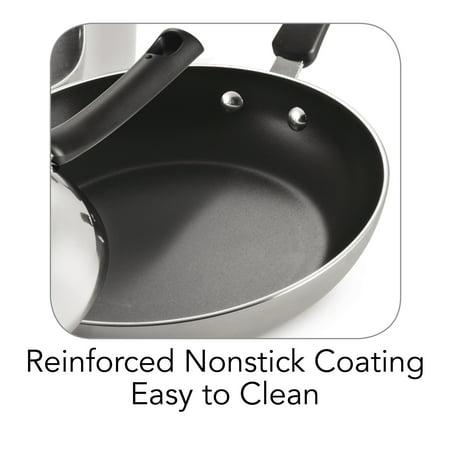 Tramontina Select 8 Piece Polished Aluminum Non-stick Cookware Set